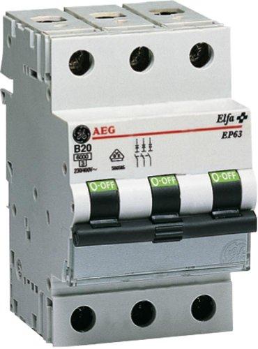 GE, Disgiuntore miniaturizzato a 3 poli, 40A, B - GE 230/400V, EP 63 B 40, 566.588