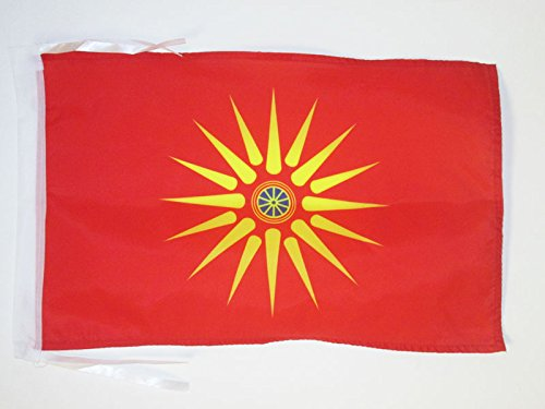 AZ FLAG Flagge MAZEDONIER ETHNIE 45x30cm mit Kordel - MAZEDONIEN Fahne 30 x 45 cm - flaggen Top Qualität