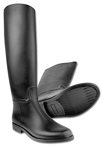 Reitstiefel Star für Erwachsene schwarz wasserdicht, Gr. 39 Reiterstiefel mit Sporenhalterung aus Kunststoff