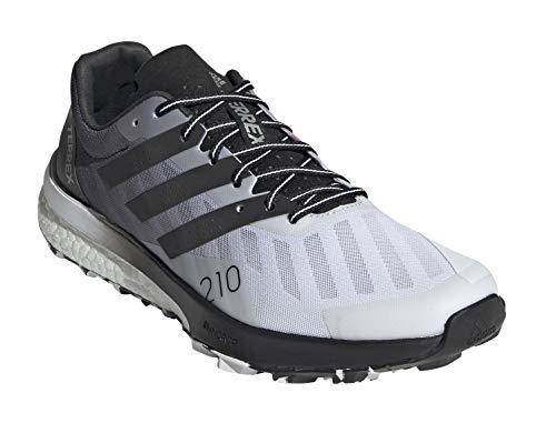 adidas Women's Terrex Speed Ultra Trail Running Shoe, Cloud White/Core Black/Solar Yellow - 9