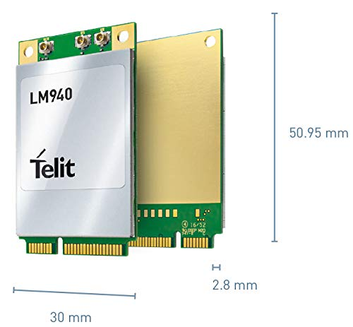 Telit LM940 ABW413 Mini-PCIe Card, Datenkarte für 4G, LTE/LTE+, 3G, GPS, GLONASS, Galileo und Beidou