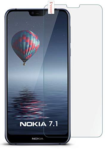 MoEx 9H Panzerfolie für Nokia 7.1 Panzerglas Bildschirm Glasfolie [Tempered Glass] Screen Protector Glas Bildschirmschutz-Folie für Nokia 7.1 2018 Schutzfolie