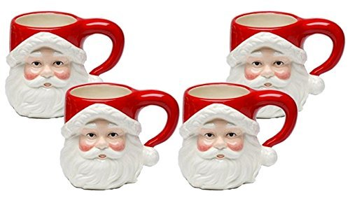 Cosmos Gifts 10635 Santa Plate 8-3//8 by 7-3//4 by 1-1//4-Inch Set of 4 SS-CG-10635