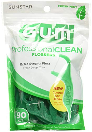 Gum Eez-Thru Flossers Mint, 90 count (Pack of 3)