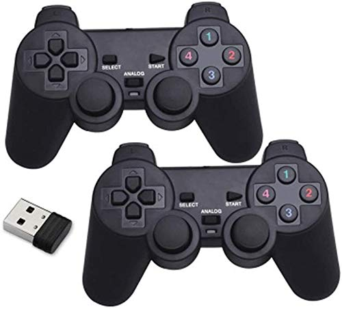 Exquisit Gamepad für drahtlosen USB-Controller-Spiel Joystick Wireless Gaming Controller Dual Vibration Connection, 2 pro Packung dauerhaft (Color : Default)