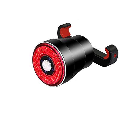 J.AKSO Smart Bike Rücklicht, USB wiederaufladbar, Intelligent Light Perception Bike Rücklicht, 4 Modi Ultra Bright Auto On/Off, IP65 wasserdicht, einfach für alle Fahrräder zu installieren
