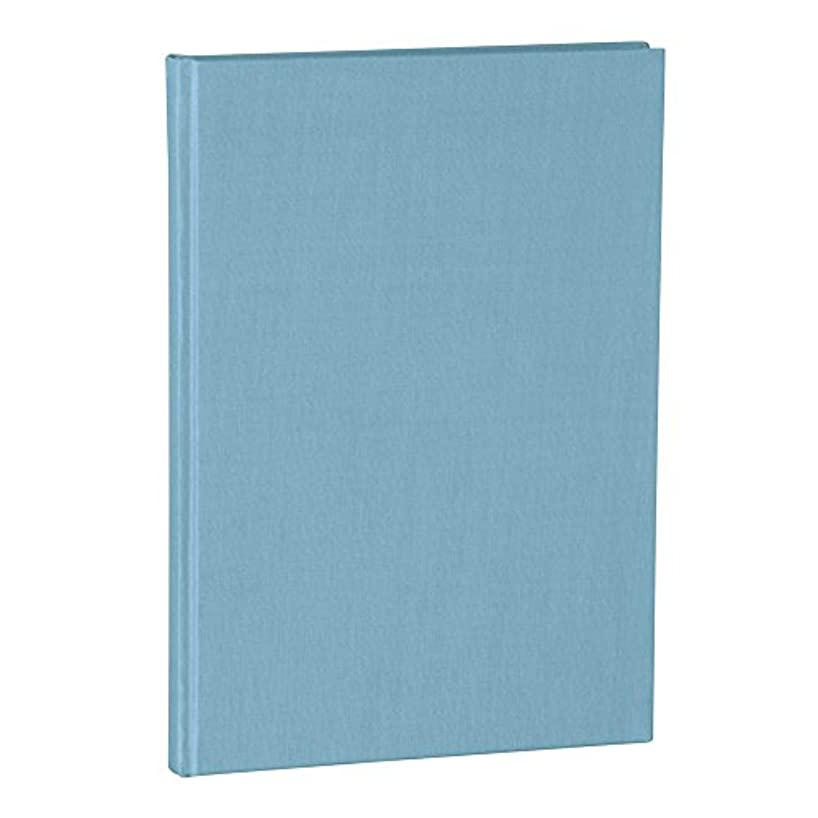 Semikolon A4 Classic Linen Cover Notebook, 8.5 X 12 inches, 144 Lined Pages, 100g Cream Colored Paper, Ciel (02509)