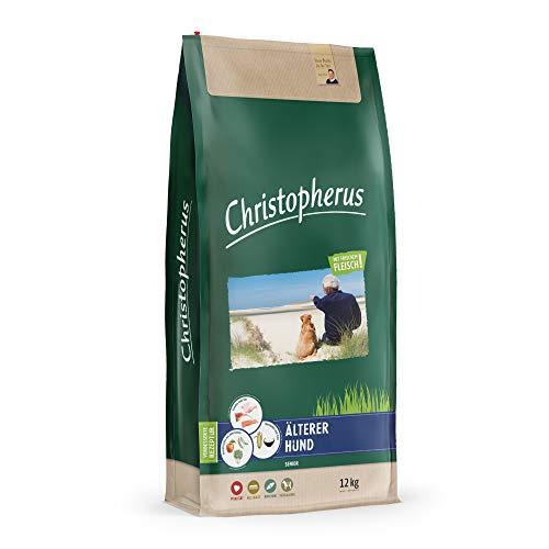 Christopherus Senior, Vollnahrung für den älteren Hund ab dem 6. Lebensjahr, Trockenfutter, Geflügel, Lamm, Ei, Reis, Krokettengröße ca. 1 cm, Älterer Hund, 12 kg
