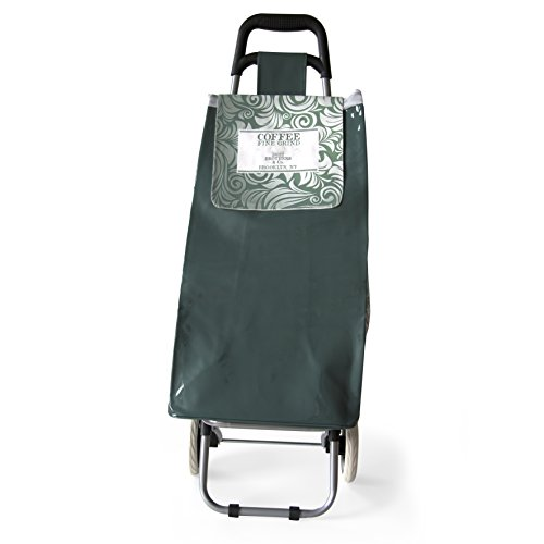 CMP Paris Witziges Design Vintage Einkaufstrolley. Coffee Fine Grind Green