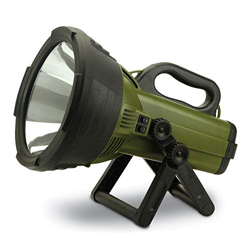 Cyclops C18MIL Colossus 18 Million Candlepower 12-Volt Rechargeable Handheld Halogen Spotlight Flashlight with 2 Levels of Power