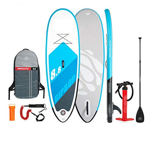 Inflatable Stand Up Paddle Board All Skill Levels 8.8 Ft Inflatable SUP Stand Up Paddle Board, Adjustable Paddle, Pump, Travel Backpack, Leash for Touring,Surfing and Racing Full SUP Accessories