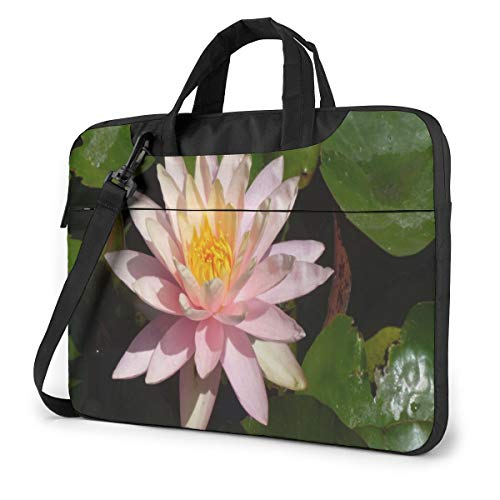 Beautiful Blooming Lotus Floral Flowers Laptop Carrying Case Shoulder Bag Briefcase W/Strap Women Men 13'
