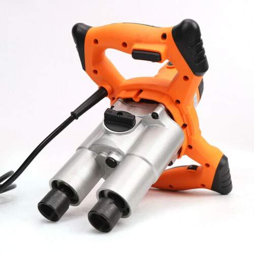 1600WCement Mortar Plaster Paint Electric Agitator HandHeld Double Mixer for Concrete 220mm Stirring