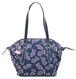 Radley Umhängetasche Kenwood Animal Print Nylon Bag Medium Handtasche, Blau - marineblau - Größe: Medium