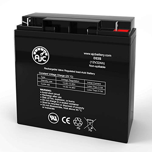Invacare Lynx SX-3p 12V 22Ah Mobility Scooter Battery - This is an AJC Brand Replacement