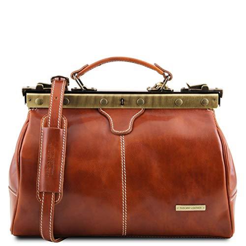 Tuscany Leather Michelangelo Maulbügel- Arzttasche aus Leder Honig