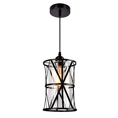 Hmvpl Pendant Lighting Fixtures Black Farmhouse Hanging Chandelier Lights With Glass Shade Mini Industrial Ceiling Lamp For Kitchen Island Dining Room Over Sink Hallway Bedroom Buy Online In Bosnia And Herzegovina At