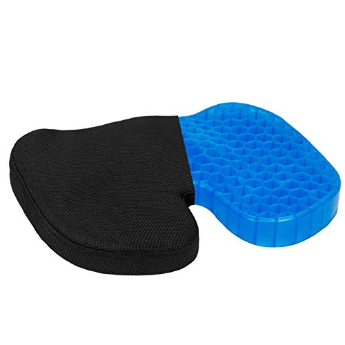 Leadpro Gel Seat Cushion, Ergonomic Non-Slip Chair Seat Pad for Relieving Long Sitting Pressure, Sciatica, Back Pain and Hip Pain, Comfort for Office, Car and Airplane