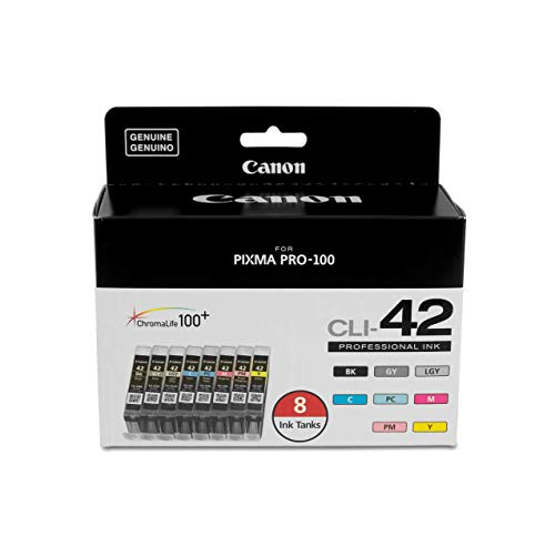 Canon CLI-42 8 PK Value Pack Ink, 8 Pack (Renewed)