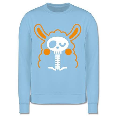 Shirtracer Halloween Kind - Halloween Lama - 104 (3/4 Jahre) - Hellblau - Fun - JH030K - Kinder Pullover