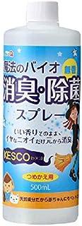 ケスコ 詰替用 500ml  丹羽久 消臭スプレー バイオ 天然成分 ミストタイプ 靴 タバコ ゴミ箱 ペット 無香料 消臭剤