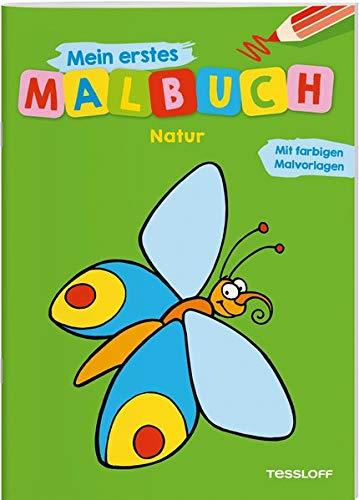 Mein erstes Malbuch Natur: Fröhliche Motive, starke Konturen, Farbvorschläge (Malbücher und...