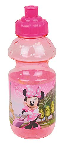 FUN HOUSE 005829 Disney Minnie Gourde pour Enfant Jeunesse Unisexe, Rose, MM