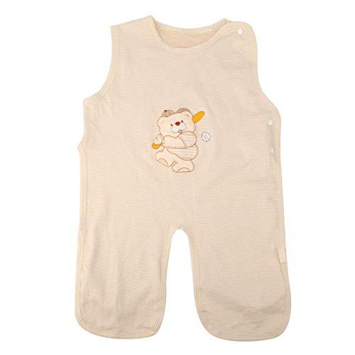Seguro, suave y cómodo Diseño de chaleco Anti Kick Sleepsuit Saco de dormir para bebé recién nacido para(M, Baseball bear thin cotton)