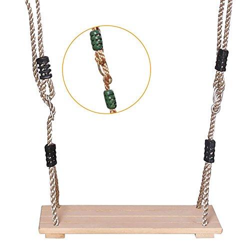 """ZY123 Garden Tree Schaukelsitz - """"15.75 0.47 6.38 '' Große wasserdichte Holzschaukel mit Seil für Kinder & Erwachsene Outdoor & Indoor Spielen (Das Seil kann ca. 300kg tragen)"""