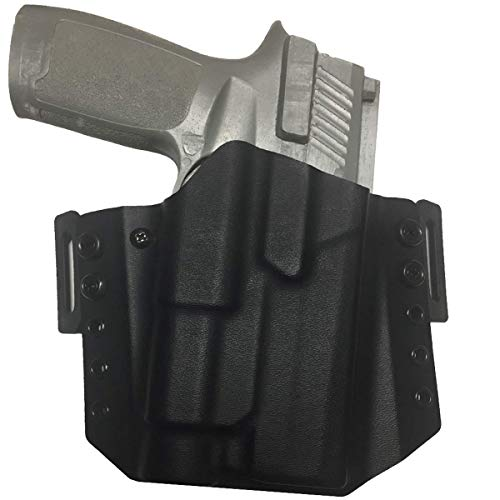 Elite Force Holsters OWB Light Bearing Kydex Holster for Sig Sauer P320 Full Size with Streamlight TLR1- RMR Cut - Black, Right Hand