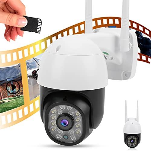 YOIM Cámara WiFi, cámara de Seguridad, Impermeable, a Todo Color, visión Nocturna, intercomunicador de Voz bidireccional para la Seguridad de la Oficina para la Seguridad del hogar