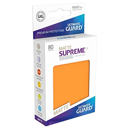Ultimate Guard ugd010564UX Supremo Fundas Standard Tamaño Mate Naranja (80)