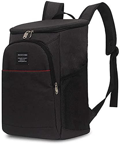 XINGDONG Bolsa de hielo para el almuerzo al aire libre, bolsa de aislamiento de alimentos, bolsa de picnic EVA, bolsa de vino, bolsa de viaje, comida duradera (color: negro)