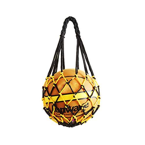Chiic Balltasche - Netztasche aus Polyester, faltbar, langlebig, wiederverwendbar, multifunktional, für Basketball, Fußball, Volleyball, Tennis Einheitsgröße Multi-Color