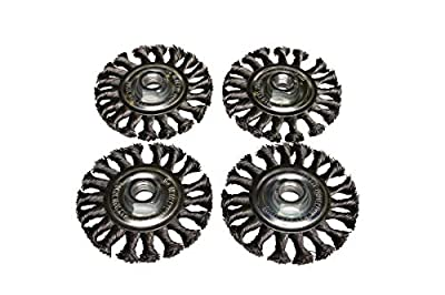 """Wire Wheel Brush, 4"""" x 5/8"""" x .020, Remove Paint, Rust and Corrosion, 4 Pack"""