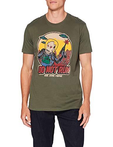 Springfield Comic Marciano Camiseta, Verde (Green 26), S (Tamaño del Fabricante: S) para Hombre