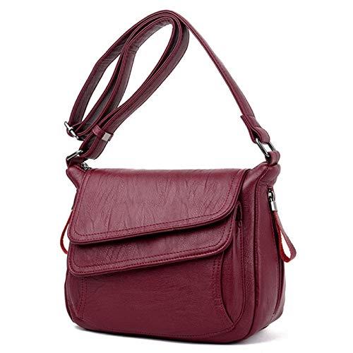 BECCYYLY Kleidung Aufbewahrung Boxhandtasche Weiches Leder Luxus Handtasche Lady Bag Designer Marke Lady Messenger Bag