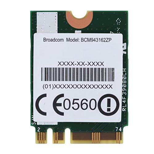 Tarjeta WiFi 2.4G / 5G, Adaptador WiFi Plug & Play M.2 NGFF, Chip único, certificación 802.11n, 433Mpbs, 4.0 Bluetooth BCM943162ZP para ThinkPad E450, E550, E450c, E550c