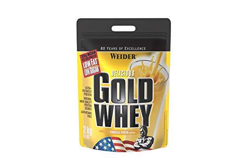Weider Gold Whey Proteine del Siero di Latte, Sapore Vaniglia - 910 Gr
