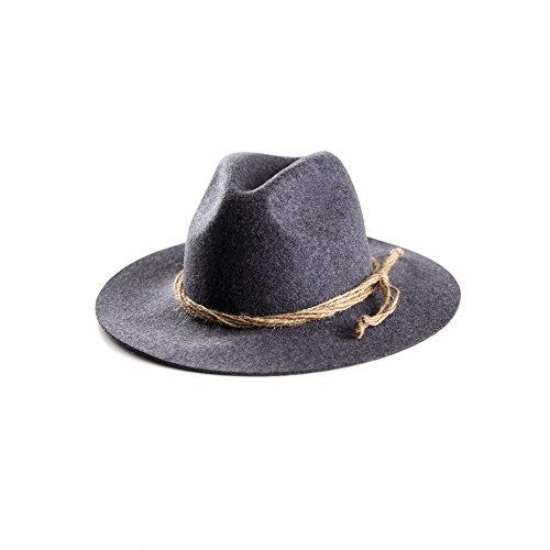ALMBOCK Trachtenhut Herren schwarz anthrazit H1 - Tirolerhut aus echtem Wollfilz - schwarzer Hut als Oktoberfest Accessoire in M, L, XL