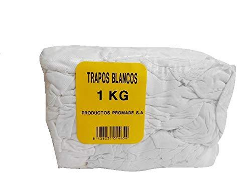 Promade - Trapos Blancos de Algodón para la Aplicación de Barnices, Ceras, Tintes 1 Kg