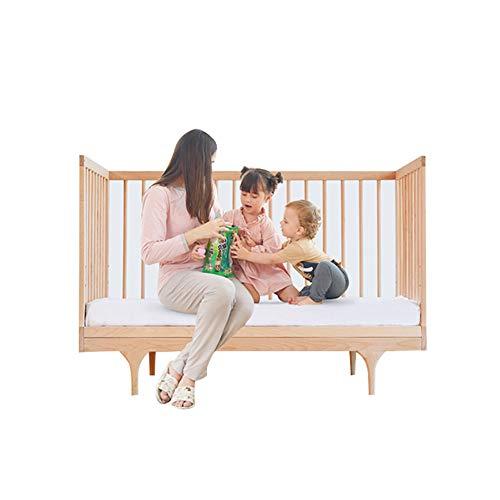 HUATINGRHYE Baby-reisebett, Kinderbett, Jugendbett, Massivholz, Multifunktionale Kinderbett, Kinderbett (innendurchmesser: 120 * 60 cm/Außendurchmesser: 124 * 64 * 85,5 cm)