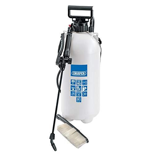 Draper 63109 Vehicle Pressure Sprayer with Wash Brush, 10 Litre