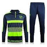 Traje de Entrenamiento de fútbol de los Hombres de Arsěnǎl - Jerseys de fútbol Conjuntos de Manga Larga Suéter Sweater Sportswear Blue-S