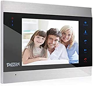 TMEZON 7 Inch Wired Video Door Phone Intercom Entry System Single Monitor Just Work with MZ-IP-V103W/VDP-NA100-1/1 Video D...