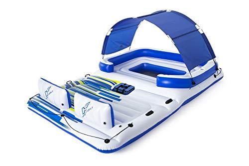 Bestway Cooler Z, Badeinsel mit viel Platz für bis zu 6 Personen, 373x264x73 cm