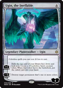 Magic: The Gathering - Ugin, The Ineffable - War of The Spark