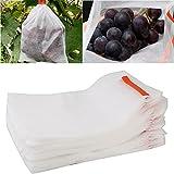 Heroicn Bolsas Protectoras de Tela para Frutas, Paquete de 100 Bolsas Protectoras de UVA Impermeables Reutilizables con cordón para Proteger Frutas y Verduras (Size : 11.81 * 15.75inch)