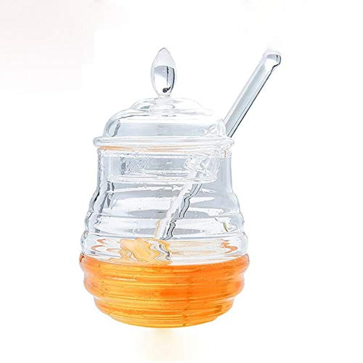 New 245Ml Transparent Food With Stirring Stick Honey Jar Honey Bottle Seasoning Juice Bottle