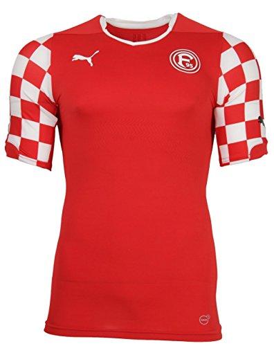 Puma Fortuna Düsseldorf Home ACT Trikot Herren Rot Fußball F95, Bekleidungsgröße:M